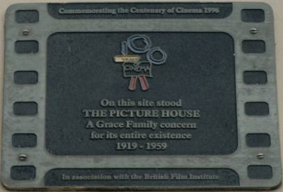 The Picture House 1919-1959 plaque, High Street Thornbury